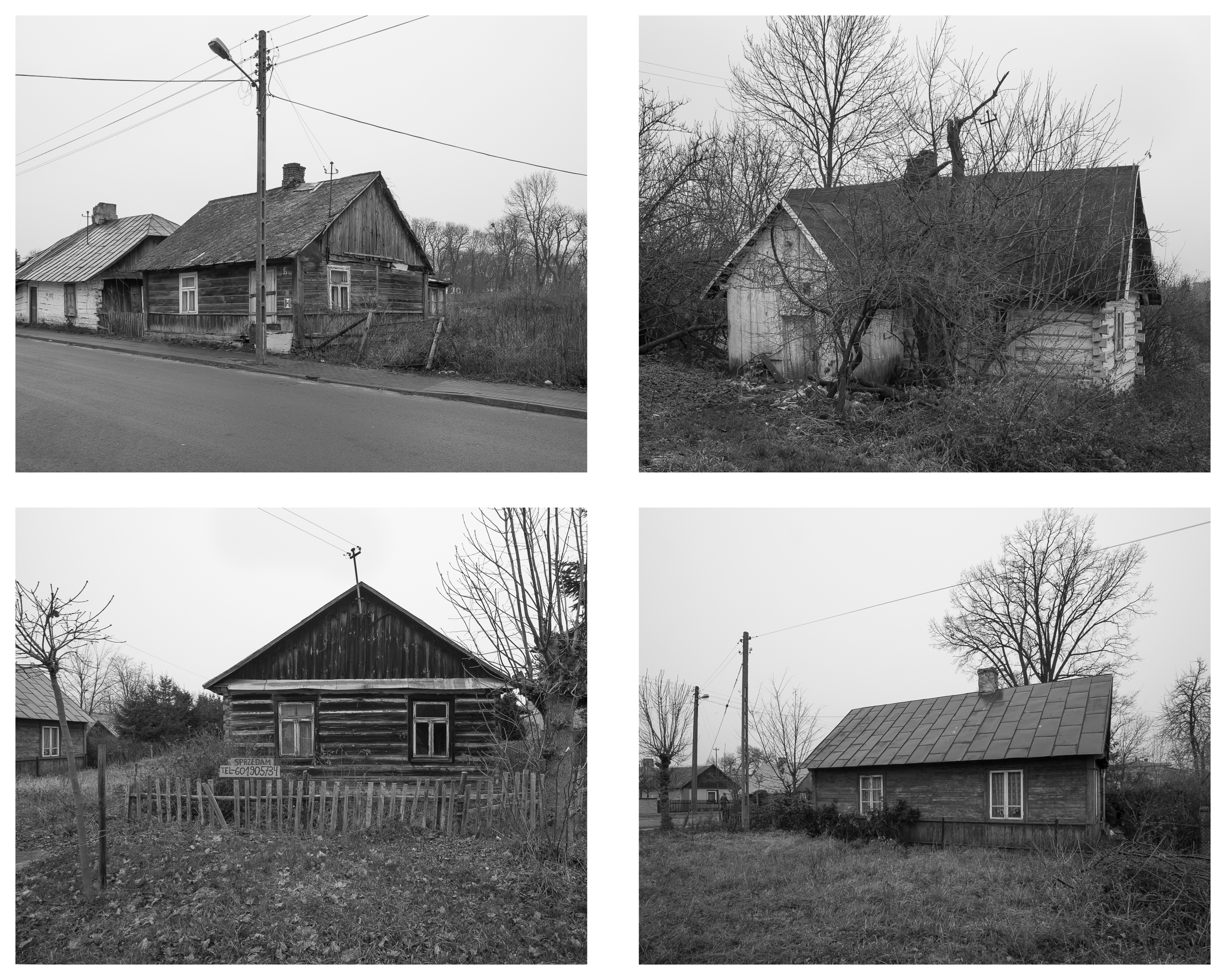 Kock wooden houses x 4 (b&w)