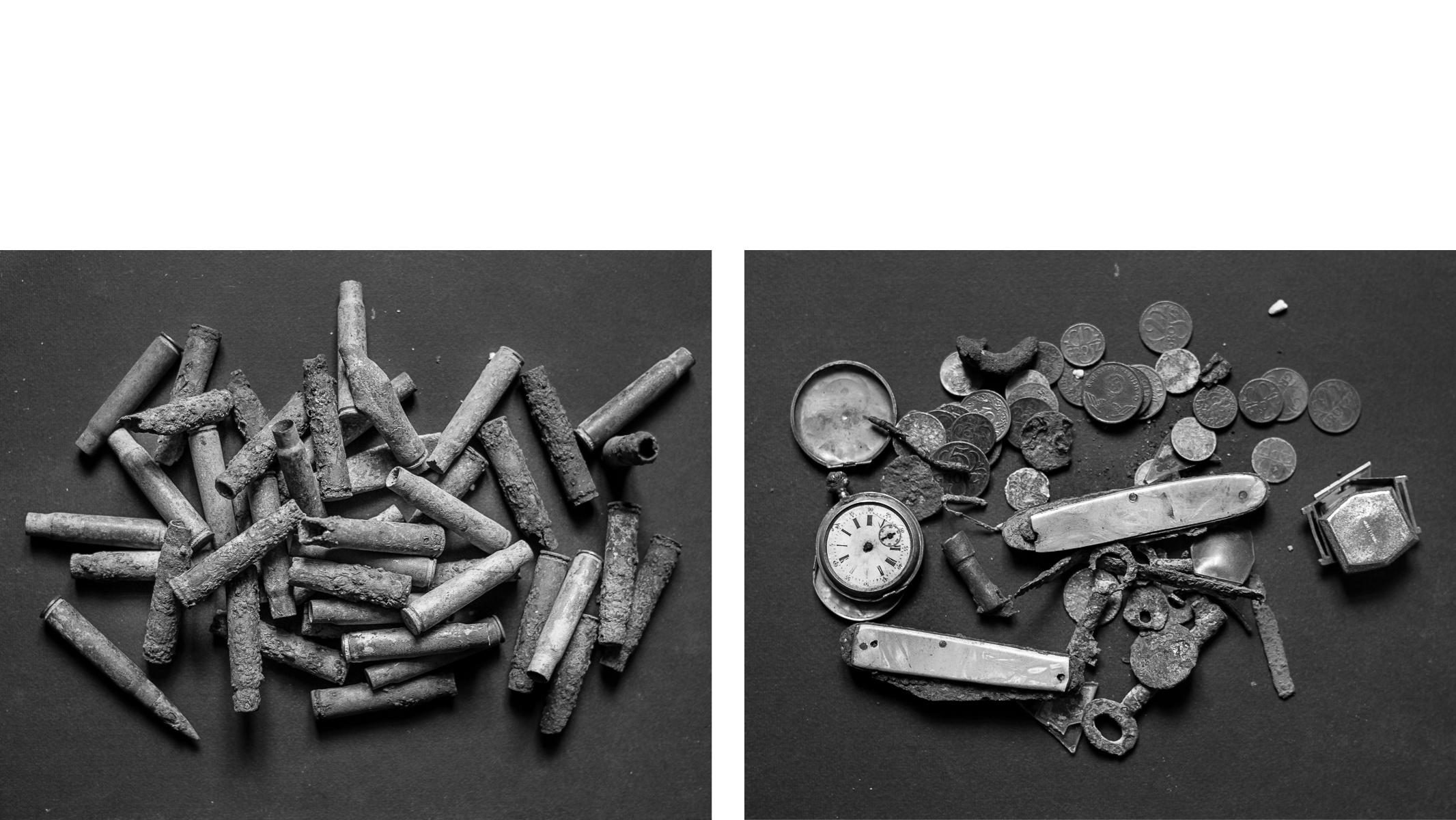 In Search of Amnesia ~ Bullets & Watches diptych