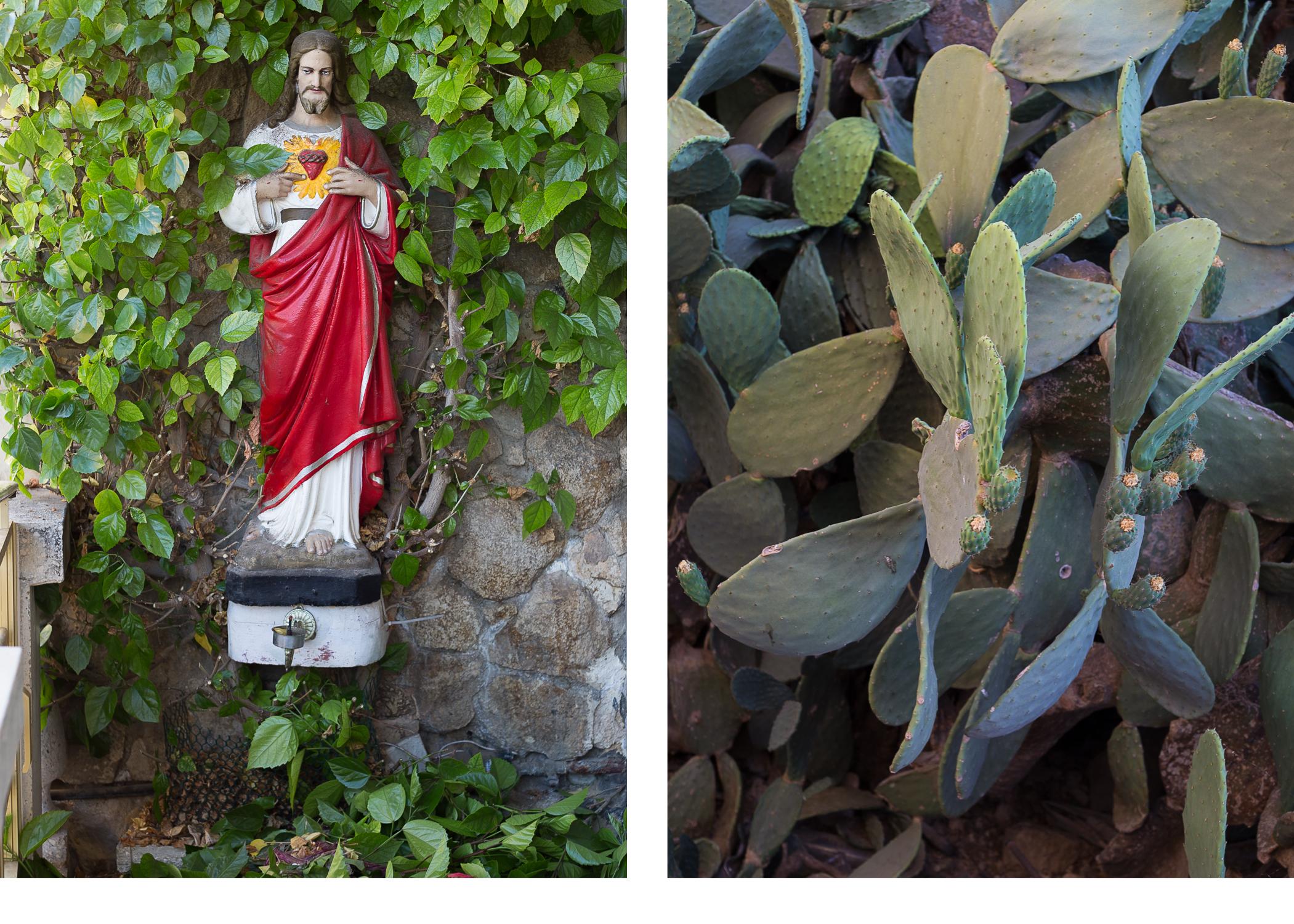 Calypso's Cave ~ Jesus & Cacti diptych