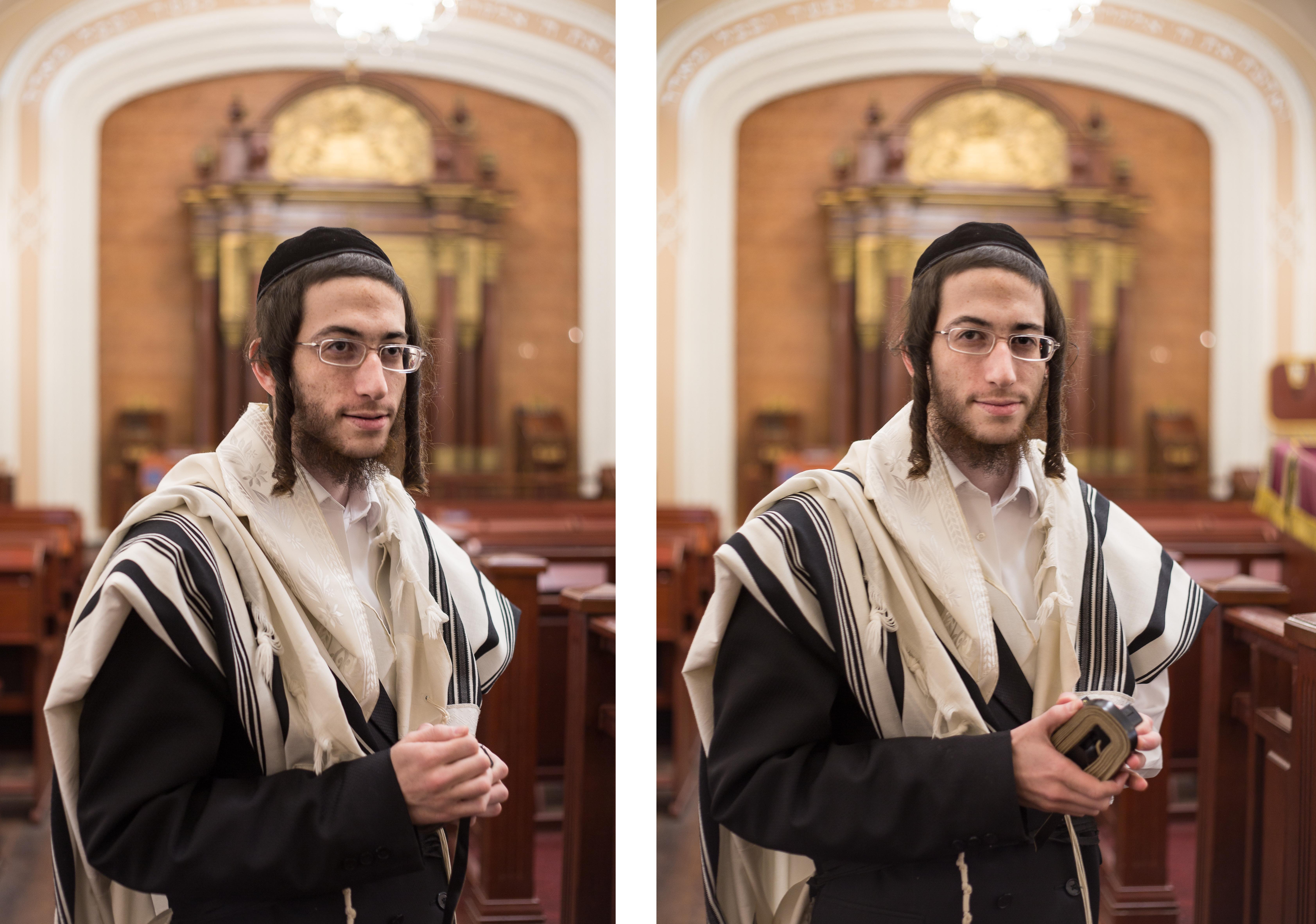 Hasidic Jew Brodsky Synagogue diptych